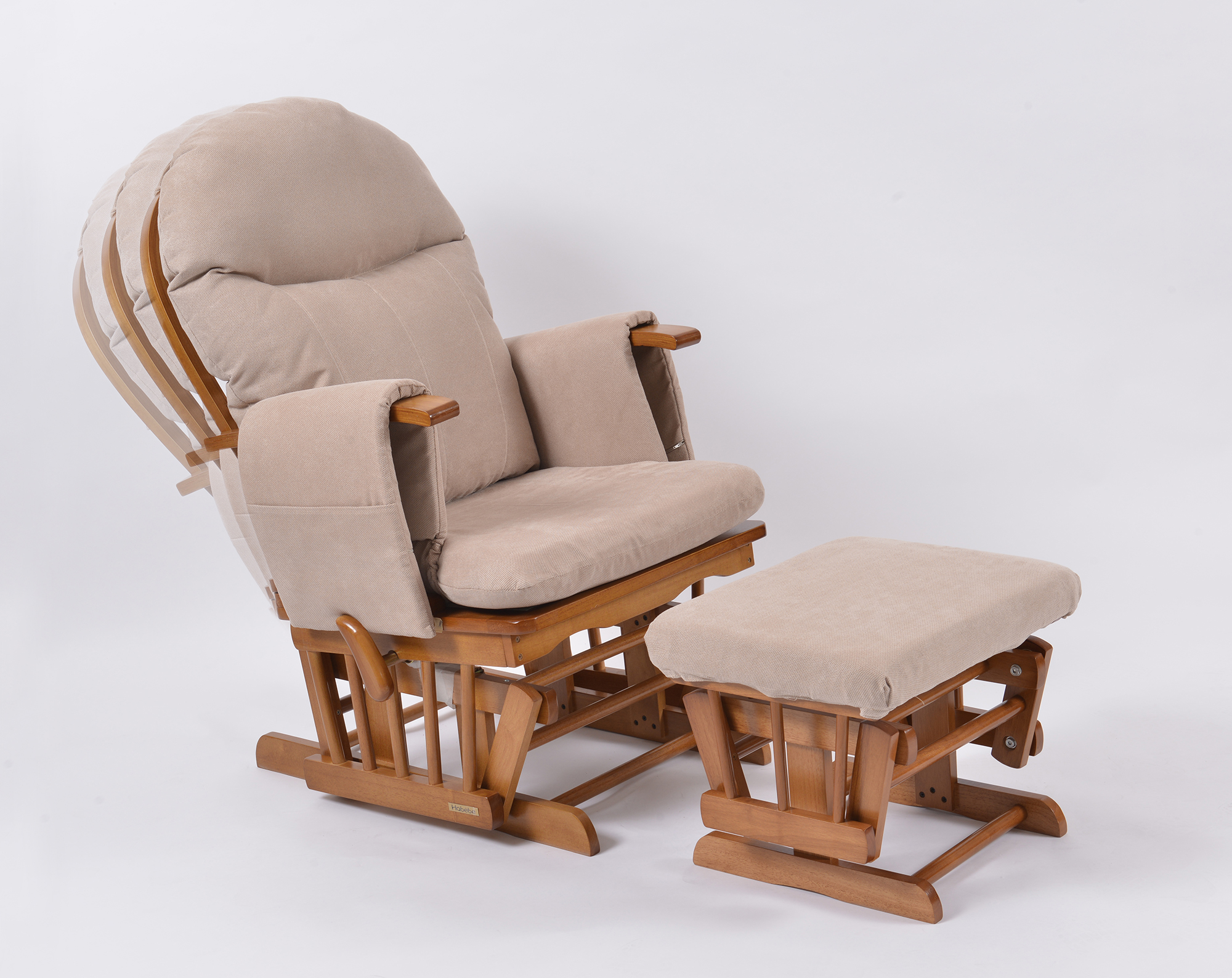 Recliner Seat Covers >> Habebe Glider Chair & Stool – Oak Wood & Cream Washable Covers - Mums 2 b